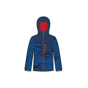 Jaqueta Infantil Impermeável Straight Line Blue Camo Wb1436