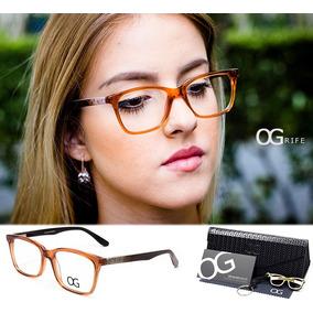 5fbc390cff377 Armação Oculos Grife Og 164 C Feminino Acetato Original - Óculos no ...