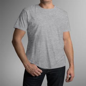 Kit 20 Camisetas Para Sublimação Cinza Mescla 100%poliéster