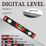 200/300/400/600 Mm Nivel Burbuja Digital Inclinómetro Calibr