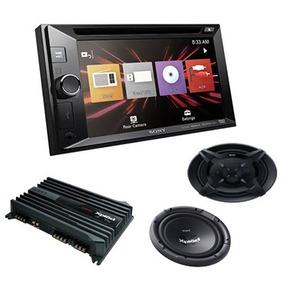 Auto Estereo Sony Xav-w601 +bocina, Amplificador Y Subwoofer