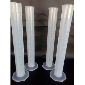 Probetas Plástico 250 Ml 04 Pzs Envio Incluido