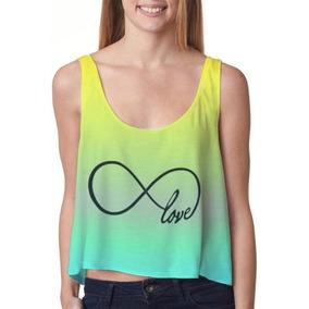 Crop Top Camiseta Primavera-verano