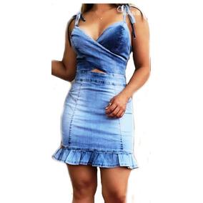 8a1dcb1b1 Vestido Jeans Lançamento Verão 2019 Panicat Blogueira Instag