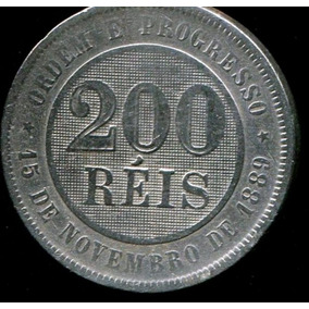 Moeda Brasil República - 200 Réis 1899 - C.níquel Bc - L74