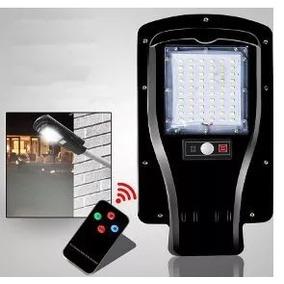 Nova Luminária Poste Publica Solar Led Ip66 Completa 30w .