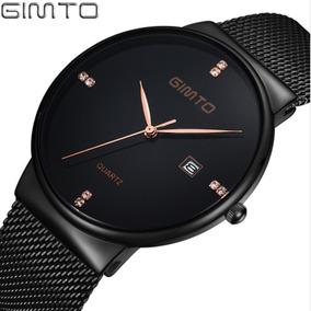 9640da71163 Relógio Masculino Gimto 218 De Pulso Quartzo Inox Promoção