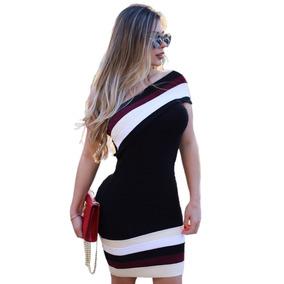 Vestido Um Ombro Só Panicat Lapis - Blogueira Frete Grátis