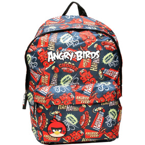 Mochila Angry Birds Santino Azul/vermelha