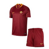 Uniforme Infantil Camisa Shorts Roma Home 2018 Encomenda bc01be4023679