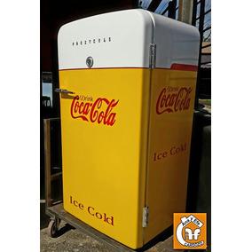 Heladera Antigua Coca Cola Barberia Barbacoa Boliche Bar Mas