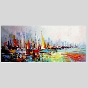 Guixinweiheng Pintado A Mano Abstracto Horizontal Moderno P