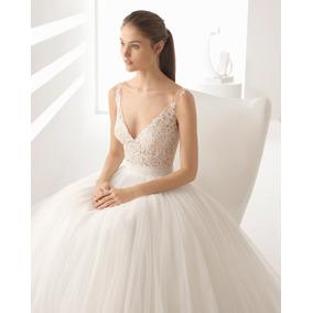 Precio de un vestido de novia rosa clara