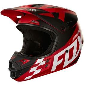 Capacete Fox V1 Vermelho - Acessórios de Motos no Mercado Livre Brasil c993a1cd3b