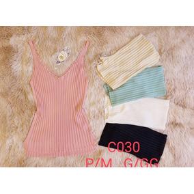 Blusas Femininas T-shirts Regata Com Pérolas Moda Verão