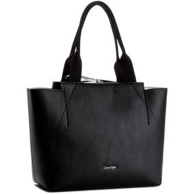 Cartera Importada Tote Bag Calvin Klein Negra Reversible