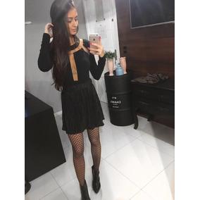 Roupa Feminina / Saia Plissada Black Envieto Imediato