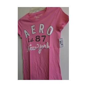 Aeropostale Blusa Rosa Letras Blancas Con Gliter Amyglo
