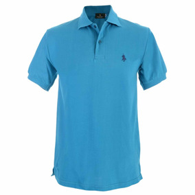 Playera Marca Polo Club Básica De Algodón Color Azul 676e0ce860ce3