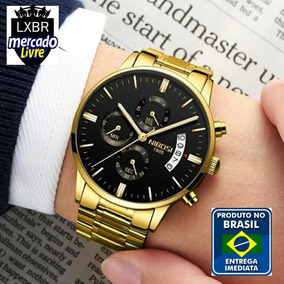 6404cfe2e73 Relogio Masculino Social Dourado - Relógios De Pulso no Mercado ...
