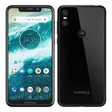 Celular Motorola Moto One 64gb/4gb Dualcâmera Biometria Capa