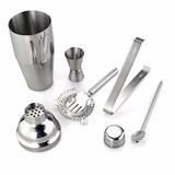 Set De Metal Coctelera 5 Piezas 250 Ml Shaker Bar
