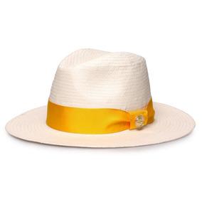 Chapeu Panama Amarelo - Acessórios da Moda no Mercado Livre Brasil fc1a77fb834