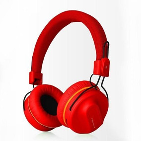 Audifonos Diadema Bluetooth Marvo Hb-013 Rojo Bateria 8 Hrs