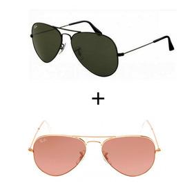 4377fe1ea6648 Óculos Sol Rosa Pink Anos De Ray Ban Aviator - Óculos no Mercado ...