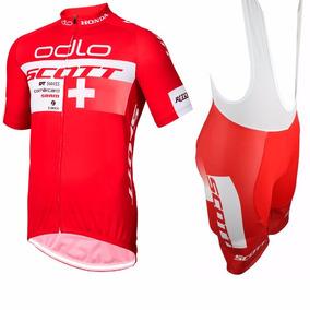 Uniforme Ciclismo Odlo Scott Swiss Jersey + Short Bib f5c593a29328