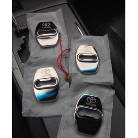 Kit Protetor De Portas Aço Logo Toyota. Hilux, Corolla, Sw4