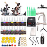 Kit Tatuaje Tatuar Tattoo 2 Maquinas 20tintas Fuente Digital