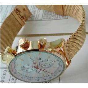 Relógio De Quartzo Curren Original Dourado À Prova D