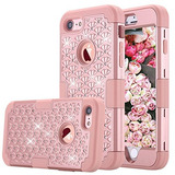 Funda Iphone 7, Greenelec [diamond Studded