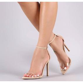 Sandalia Stiletto Classica Nude Tendencia Salto 11 Cm