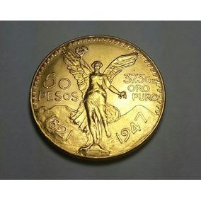 O202 México Moeda Ouro 1947 - 50 Pesos - 41,7 Gr 0.900 37 Mm