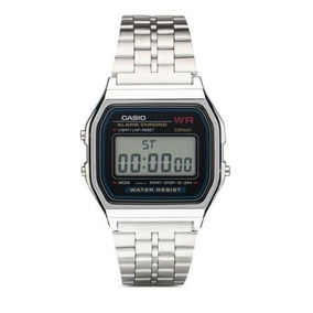 92a608c2b33 Relogio Casio Unisex A159 Wa 9df Retrô Vintage Prateado - Relógios ...