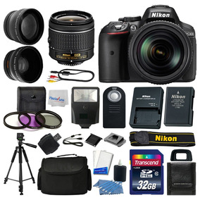 Kit Cámara Nikon D5300+ 3 Lens 18-55mm+ 32gb Top Value