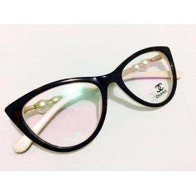 aa566f97dbeb0 Oculos De Grau Feminino Gatinho Chanel - Óculos no Mercado Livre Brasil