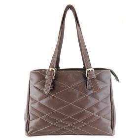 Bolsa Feminina Matelassê Couro Legítimo Ombro Star Bag Linda