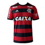 Camisa Flamengo C/patrocinios E Patch 18/19 Pronta Entrega