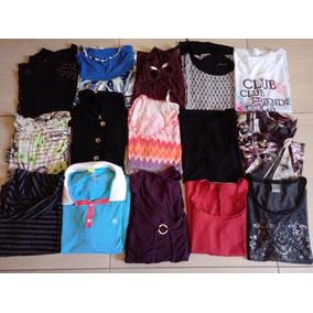 Lote 15 Peças Roupas Usadas Blusas Femininas Usadas G, Gg