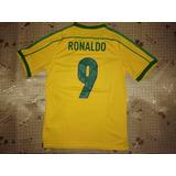 Especial Camisa Brasil - Copa França 1998 - #9 Ronaldo