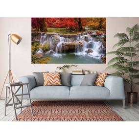 207a7e011 Painel Adesivo Papel Parede Paisagem Cachoeira Natureza Ch01