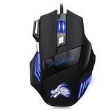 Beitas X3 Usb Gaming Mouse Optico 5500 Dpi - Negro Con Azul