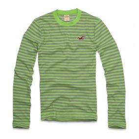 Camiseta Hollister Manga Longa Blusa Camisa Malha Original 251a9ceaa62