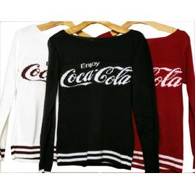 f79ad81138 Blusa Croche Coca Cola Frio Tricô Tricot Outono Inverno