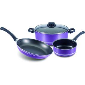 Batería De Cocina Violet Field 4pzas Vasconia
