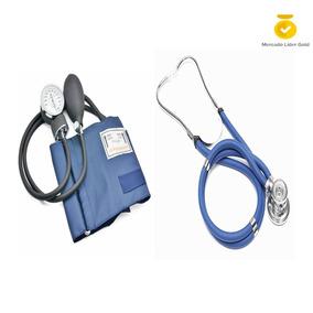 Kit Tensiómetro Manual Aneroide Estetoscopio Doble Manguera