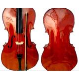 Violoncello Cello Marca Flamenco 4/4 Nuevo Acb Brillo G